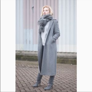 Zara Grey wool blend long coat